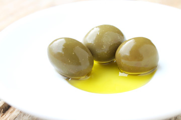 Olives in the oil