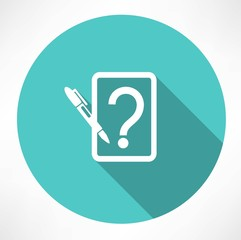 note with question icon