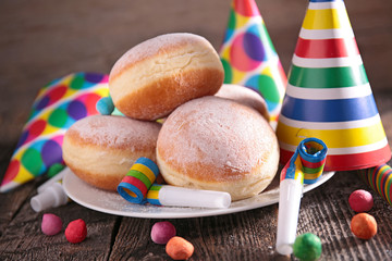 donut and carnival decoration