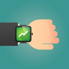 Smart watch icon with a graph
