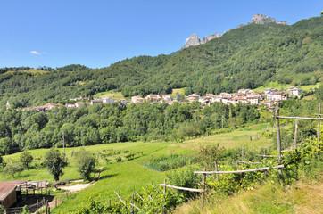 paysage vallée del Pasubio (Italie)