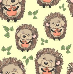 hedgehog pattern textiles