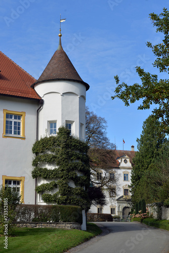 canvas print picture In der Schlossanlage Wolfegg