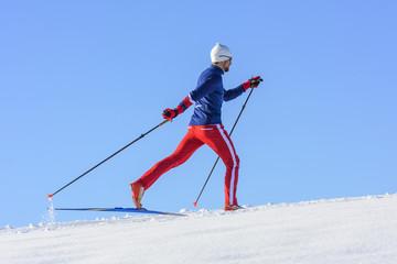 elegant und sportlich Langlaufen
