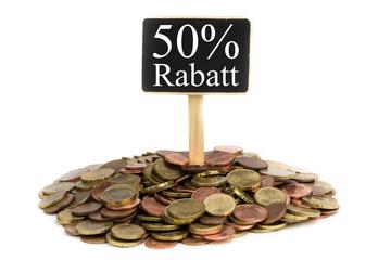 Münzen mit Schild - 50% Rabatt