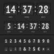 Vector countdown timer and scoreboard numbers - 73353827