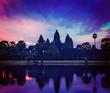 Angkor Wat - famous Cambodian landmark on sunrise