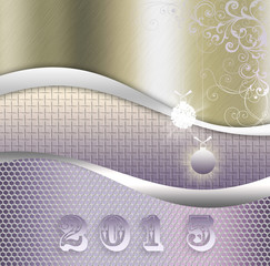 background of metal texture illustration ,New Year 2015