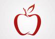 Apple line red illustration logo vector - 73355837