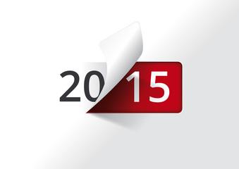 Carte de voeux 2015 - On tourne la page (version blanche)