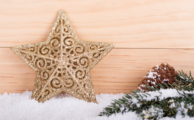 Gold Holiday Star