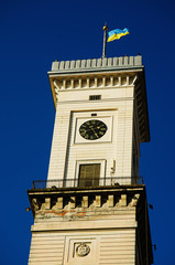 Town Hall Tower in the Centre of  European city