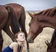 Woman and foal
