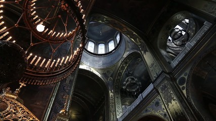 large hand-painted dome of the cathedral
