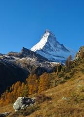 Matterhorn on a sunny autumn day