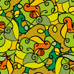 Abstract colorful seamless green pattern