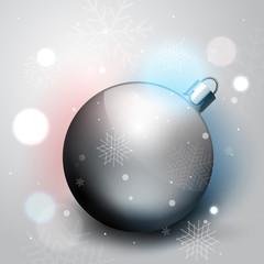 Silver Christmas decoration ball
