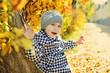 little girl in fall