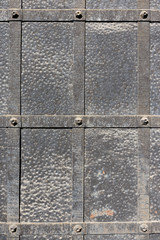 doors reinforced with iron, close up