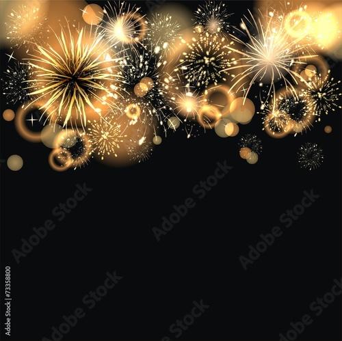 canvas print picture Hintergund mit Feuerwerk