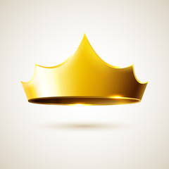 Gold vector crown