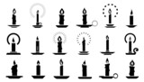 candle2 silhouettes - 73360205