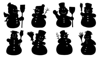 snowman silhouettes