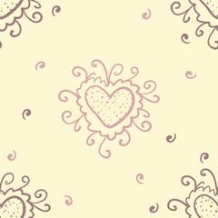 Heart doodle pattern