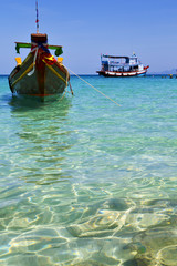 asia in the  kho tao bay white  beach       thailand  and south