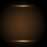 Wood background with radiance frame poster