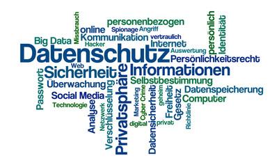 Word Cloud - Datenschutz