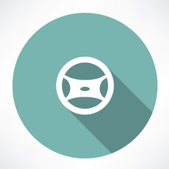 car's steering wheel