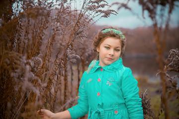 Mystic magic portrait of little girl