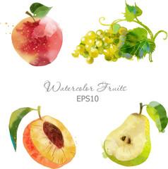 apple,grape,peach,pear