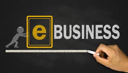 internet business concept concept on blackboard