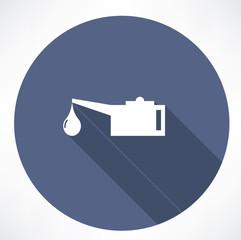 Oiler single flat icon