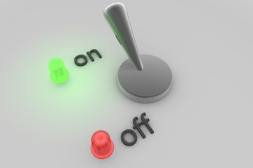 Switch turned on - Green light is burning