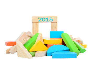 Wooden construction toy 2015