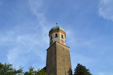 Kirche und Himmelblau