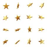 Fototapety Sterne, Goldsterne, goldene Sterne, Set, 3D, golden, Star, Gold