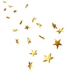 Sterne, Goldsterne, goldene Sterne, fallende, falling Star, 3D