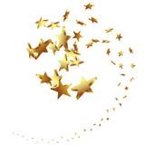 Fototapety Sterne, goldene, Sternschnuppe, Schnuppe, Schweif, Vektor, 3D