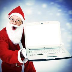 Santa Claus with Laptop