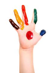 Painted Hand closeup