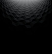 Abstract perspective black background with 3d cubes
