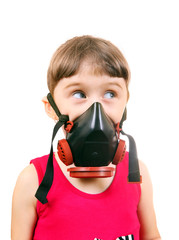 Little Girl in Gas Mask