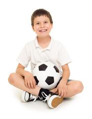 soccer boy studio isolated