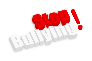 Stop Bullying 3d Text