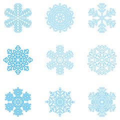 Snowflakes Blue Vector