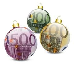 Boules de noël 100, 200, 500 Euros